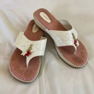 Girls Size 5M Sonoma Red and White Sandals